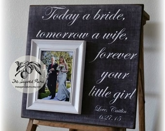 Father of the Bride Gift, Personalized Picture Frame, Today A Bride, 16x16 The Sugared Plums Frames