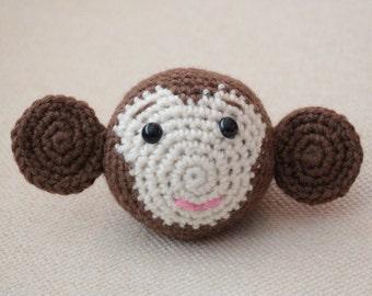 Monkey Chinese Zodiac Amigurumi - CUSTOM ORDER - Montessori - toy - cute - brown