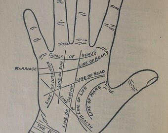 palmistry book RARE palm reading Cheiros Palmistry For All 1916 illustrations art Cheirognomy antique steampunk fortune teller gypsy