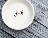 Engagement Ring Dish Initials Heart Gift For Bride