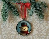 Snowman Ornament, Christmas Ornament, Retro Snowman Ornament, Retro Christmas Ornament, Vintage Snowman, Stocking Stuffer, Secret Santa Gift