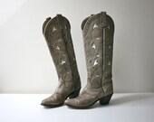 Wrangler Gray Cutout Boots 5