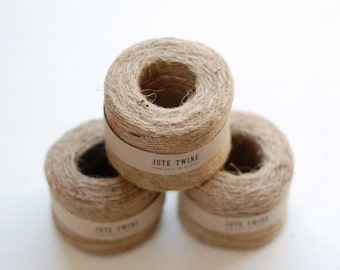 3 PACK Jute Twine - Natural Jute Twine for home + garden - 3 spools, 95 Yards each