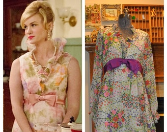 Betty Draper 70's Floral Maxi Dress