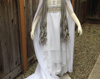 Sailor Moon Elaborate Princess Serenity Costume Dress Cape Quality Custom Couture Styled