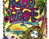 Coloring Book Key West Art You be the Artist Color Florida Adult Coloring Zen Doodle Style