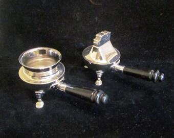 1950s Chrome Ashtray Lighter Set Mid Century ASR Table Lighter & Ashtray EXCELLENT CONDITION