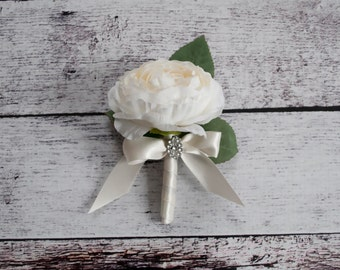 Ranunculus Wedding Boutonniere