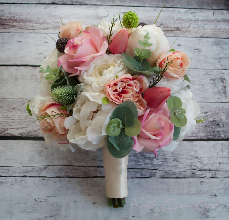 Peony Bouquet Peony Ranunculus Rose Garden Wedding Bouquet