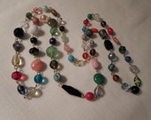 RESERVED (Wendy): GLASS NECKLACE / Flapper / Rainbow / Multicolor / Modernist / Fashionista / Trendy / Designer-Inspired / Chic / Accessory