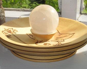 Ivy motif English Sycamore 'Crystal Ball' Dish.