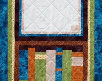 Open Book Patchwork Quilt Block Pattern