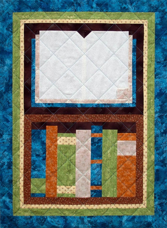 Patchwork Quilt Block Patterns Free : Open Book Patchwork Quilt Block Pattern