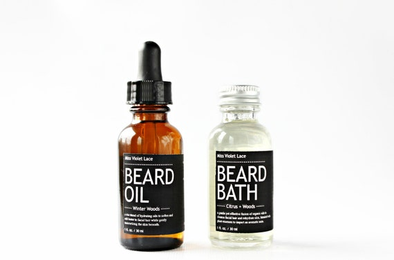 Father 39 s day gift set beard oil beard bath by missvioletlace for Mens bath set