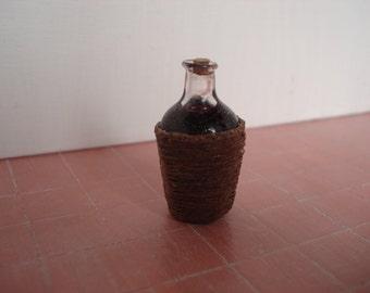Dollshouse miniature Demijohn - One inch 1:12th scale demijhon - Miniature wine - dollshouse accessories