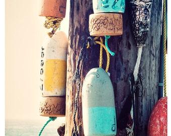 Art, Photography, Print, Coastal, Wall Art, Nature, Buoys, Ocean Print, Nautical Art, Sea, Print, Coastal Art