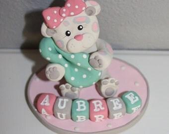 Custom Leopard Cake Topper for Birthday or Baby Shower