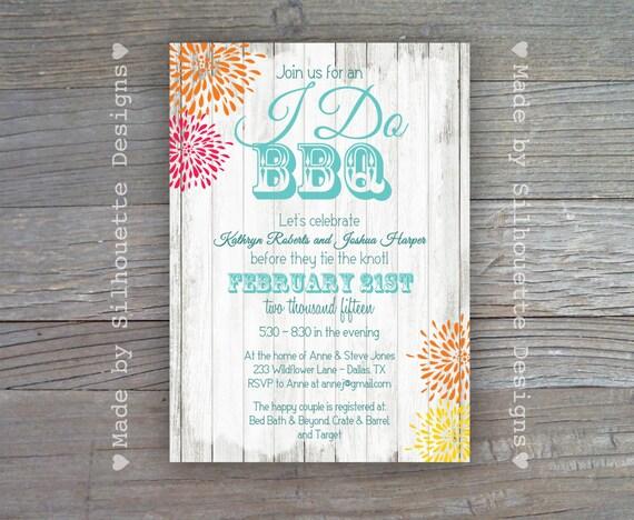 I Do BBQ Invitations For Weddings | Glitter 'N Spice