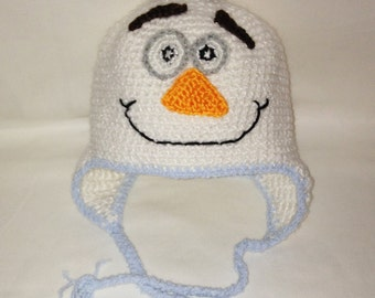 Olaf Hat, Frozen Hat, Olaf Winter Hat, Olaf Hat With Ear Flaps