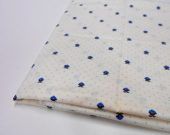 Tiny Blue Floral Print, Cotton Fabric by Cranston Print Works, Quilting Supplies, Sewing Material, 1 yd