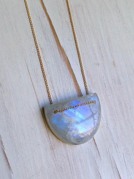 moonstone necklace moonstone jewelry gemstone jewelry