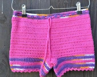 Custom Made Girls Women Crochet Shorts - Boy Shorts - Mother and Daughter - Handmade Shorts - Spring Summer Fashion - Vegan Friendly