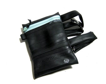 Vegan Recycled Thigh Pouch BIKE TUBE GARTER in Gunmetal