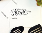Recipe lettered - Recipe card set - 10 double sided cards