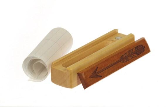 Arrow Note Box, Cherry Lid, Hard Maple Bottom, Sliding Lid Box, Paul Szewc