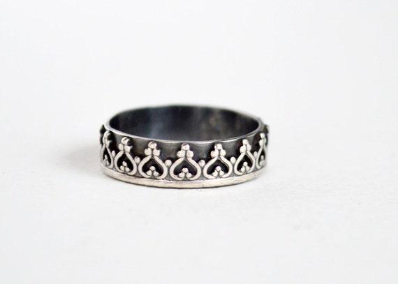 princess crown ring tiara ring wedding ring sterling