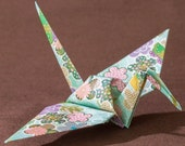 6 inches patterned cranes (32 pieces in green)