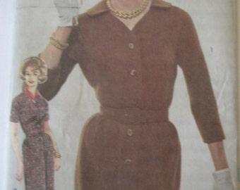 Advance 3044 Womens 60s Shirt Waist Dress Sewing Pattern Bust 34