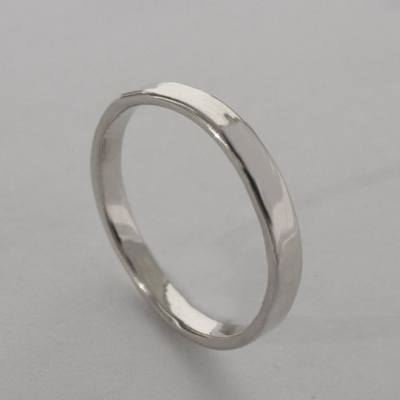 simple gold wedding band 14k white gold ring white