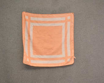 1970s Peach Polka Dot Scarf