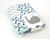 Moby Whale XL Baby Boy Crib Quilt