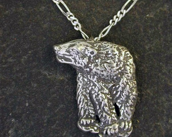 Sterling Silver Polar Bear Pendant on a Sterling Silver Chain