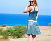 Organic Clothing - Short Skirt - Mini Skirt - Aline - Organic Cotton  - Eco Friendly