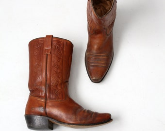FREE SHIP  1970s leather motocycle boots by Acme, men's size 9.5 E