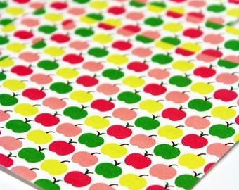 Apple Origami Paper - Medium 5 inch, 8 sheets, Mod Apples,  Origami Supplies, Paper Supplies, Gift idea
