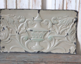 Antique ceiling tin panel