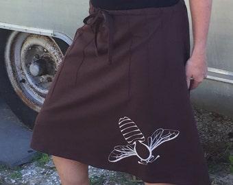 Brown Bumblebee Skirt