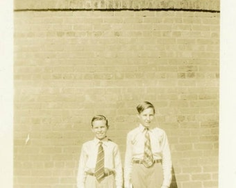 "Vintage Photo ""School Buddies"" Snapshot Photo Old Antique Photo Black & White Photography Found Photo Paper Ephemera Vernacular Picture - 81"