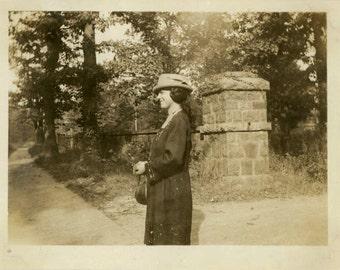 "Vintage Photo ""Afternoon Stroll"" Snapshot Photo Old Antique Photo Black & White Photography Found Photo Paper Ephemera Collectible - 18"