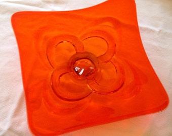 MOD orange glass dish