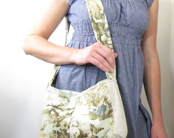Purse Twall Linen Women Shoulder Bag Shabby Chic