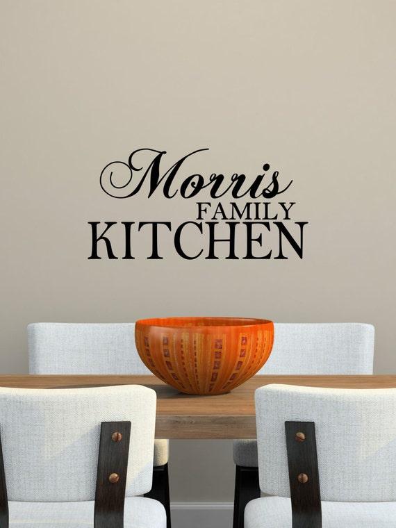 Custom family kitchen vinyl decal kitchen vinyl wall art for Dining room vinyl wall art
