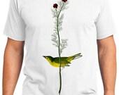 Selbys Flycatcher Bird Retro Men & Ladies T-shirt - Gift for Bird Lovers and Ornithologist (idc009)