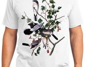 Butcher Bird Retro Men & Ladies T-shirt - Gift for Bird Lovers and Ornithologist (idc192)