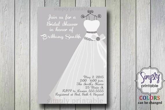 Glitter Bridal Shower Invite