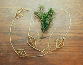 Brass Himmeli garland - mini